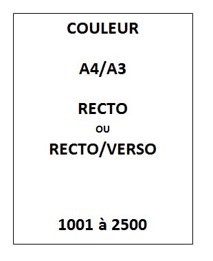 IMPRESSION Couleur<br>1001 à 2500