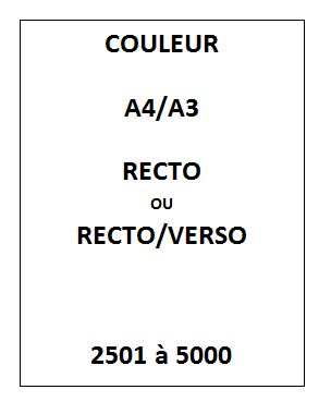 IMPRESSION Couleur<br>2501 à 5000
