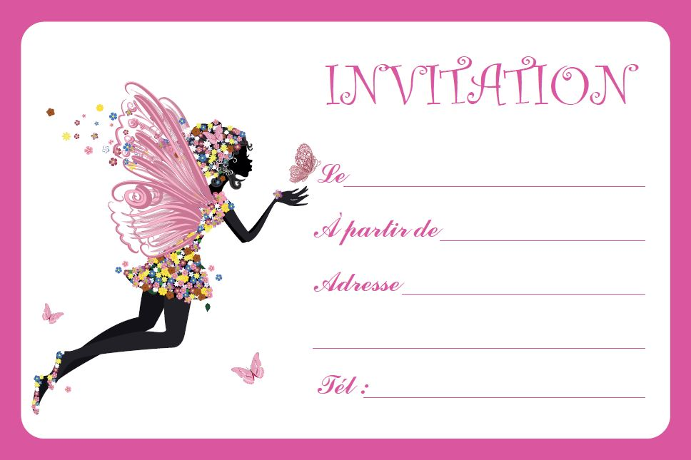 Carte Invitation Fe